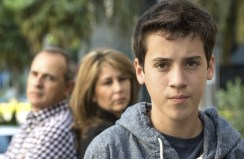 Serious Teenage boy - Stock Image